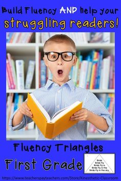Build fluency and help your struggling readers. Fluency triangles are great confidence-builders! Learning Sight Words, First Grade Sight Words, Fun Learning, Learning Support, Reading Fluency Activities, Reading Help, Struggling Readers, Reading Intervention, Down South