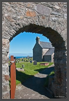 Llanbadrig Church, Anglesey, North Wales, UK - The Church of Llanbadrig, on the headland near Cemaes Bay, was founded during the 5th Century.