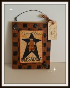 Country Gingerbread Sign Free Shipping by PrimitivePrairie on Etsy