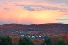 in a little town somewhere far away..  Fall in Endicott, NY