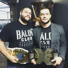 WWE Intercontinental Champion Kevin Owens and NXT Champion Finn Bálor.