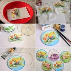 Turn Old CDs Into Easter Decorations