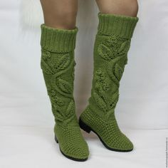 Autumn boots high knit - buy or order in an online shop on Livemaster - AZW39COM | Each of us wants to look beautiful and unique, to…