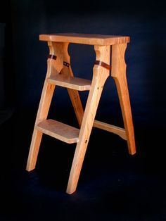 Cherry folding step stool