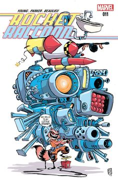 Rocket Raccoon (2014-) #11 Does the book of Half-World actually exist? Or was it all just one big hoax? And finally, is Rocket really alone in the world? You'll laugh, you'll cry, you'll wish you were a raccoon...I mean, a gun-wielding, smack-talking tough guy who happens to be covered in fur!