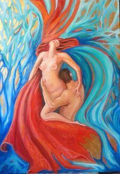 olio su tela 50x70 -La passione tinge dei propri colori tutto ciò che tocca.