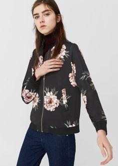 Floral print jacket | MANGO