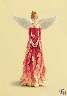 Angels with different types of dresses.