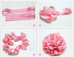 Flores con listón y organza paso a paso | Aprender manualidades es facilisimo.com