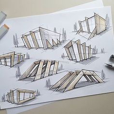 Some fast architectular exploration sketches. Some fast architectular exploration sketches. The post Some fast architectular exploration sketches. appeared first on Architecture Diy. Architecture Design Concept, Plans Architecture, Architecture Sketchbook, Architecture Portfolio, School Architecture, Interior Architecture, Conceptual Model Architecture, Architectural Sketches, Behance