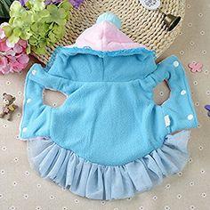 Amazon.com : shakeball Cute Dog Hooded Tutu Dress Princess Sleeveless Soft Velvet Winter Warm Lace Trim Pet Clothes size XL (Pink) : Pet Supplies