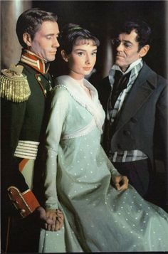 """Audrey in """"War and Peace"""" with Henry Fonda and Mel Ferrer - classic"""