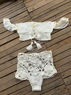 Crochet Bikini Summer Bikini by byrosali on Etsy