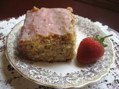 Our Heritage of Health: Compromise Cake with Strawberry Icing