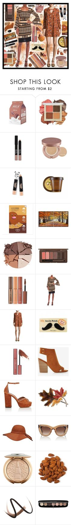 """Fall into Autumn"" by beanpod ❤ liked on Polyvore featuring Etude House, Missha, TONYMOLY, nature republic, Stupell, lilah b., Skinfood, Tracy Reese, City Triangles and Express"