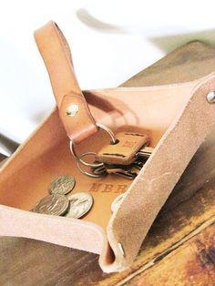 Leather Key Set / Valet Tray / Keychain / Key Covers / Free Monogramming