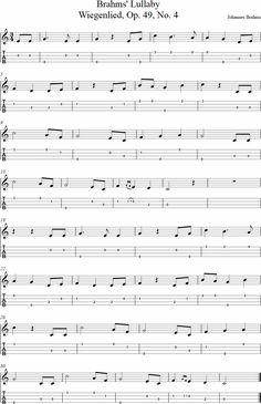 Brahms' Lullaby Ukulele Tab