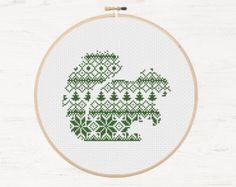 Polar Bear Cross Stitch Pattern Nordic Instant par Stitchonomy