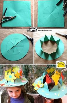 DIY Spring Crown - Gardening - Home Decor - Wedding - Women's Fashion - Diy and Crafts Kids Crafts, Summer Crafts, Toddler Crafts, Preschool Crafts, Easter Crafts, Projects For Kids, Diy For Kids, Diy And Crafts, Diy Spring