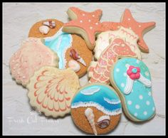 Beach Theme Cookies | part 2! If you were around a couple of months ago, you may remember ...
