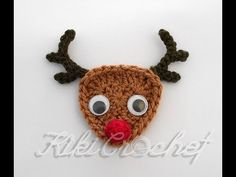 How to Crochet Rudolph Ornaments