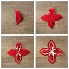 Meg's Handmade: Świąteczne gwiazdki do powieszenia #DIY #christmas #christmasDIY #gwiazdka #świąteczne #bożenarodzenie