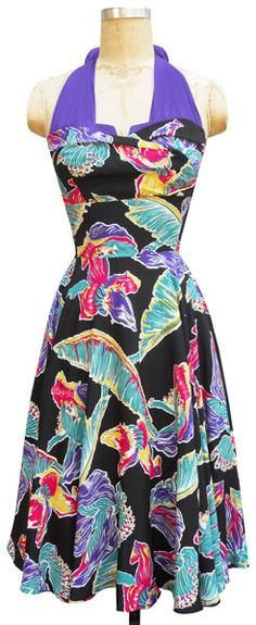 I can't justify owning this dress in two patterns, can I? But I love it, especially the vibrant purple straps!
