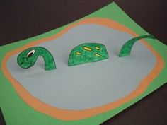 """Kids Theme Craft: Such a cute """"Nessie"""" Craft. Tell the Monster from Loch Ness Tale and let them craft their vision ......"""