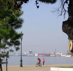 Thessaloniki Docks at the background