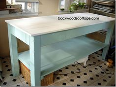 DIY build a table for less than 100.00 tutorial Wld love this in a laundry room (maybe smaller depending on room size)
