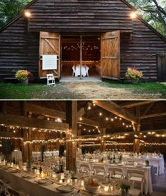 If you can find a barn it will make for a beautiful reception like this one