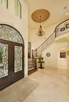 Switch out our front doors to wrought iron..Wrought Iron Basement Doors Design Ideas, Pictures, Remodel and Decor