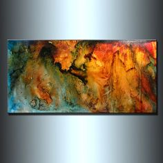 Abstract Painting Original Abstract painting by newwaveartgallery, $540.00