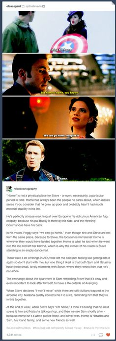 Cap's family are Nat, Sam, and Bucky. That's how you know Widow is not really on Tony's side in Civil War (she's a SPY, hello) and why it makes perfect sense that he would go to war for Bucky. It's not about friendship, it's about family. Marvel Dc Comics, Marvel Heroes, Marvel Avengers, Dc Movies, Marvel Movies, Capitan America Chris Evans, Super Hero Shirts, Romanogers, Age Of Ultron