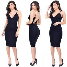 Savannah Dress in Black // Available in Red  White. Shop: emprada.com