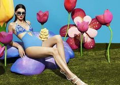 Kendall Jenner Is Sexy and Psychedelic for La Perla #kendalljenner #LaPerlaPreFall17