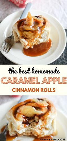 Caramel apple cinnamon rolls are a decadent breakfast sweet you'll love. This indulgent cinnamon bun recipe combines caramel apple pie with the classic breakfast sweet roll for a perfect fall or holiday treat. #cinnamonrolls #breakfast #caramel Cinnamon Bun Recipe, Apple Cinnamon Rolls, Cinnamon Apples, Caramel Apples, Types Of Desserts, Easy Desserts, Recipe Community, Holiday Treats, Baking