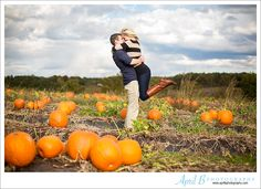 Fun Fall Engagement Session in a pumpkin patch. www.aprilbphotography.com