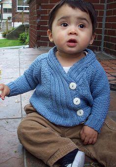 Boys knit sweater jacket pattern
