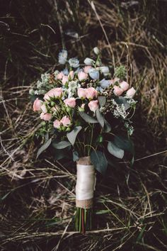bouquet with petite flowers // photo by Diane + Mike Photography // http://ruffledblog.com/canadian-mountain-wedding