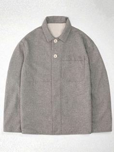 Pin-dot wool-cashmere neat jacket