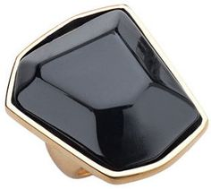 Kenneth Jay Lane Black and Gold Cocktail Ring on shopstyle.com