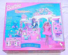 "Mattel BARBIE BOUTIQUE & GRAND CAFE 12"" Doll Figure Play Set 10922 MISB`95 RARE!"