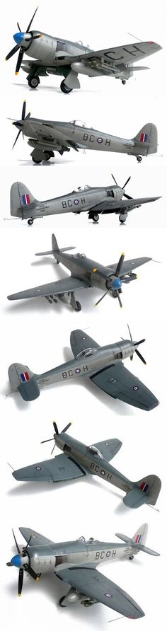 Fisher Model and Pattern's 1/32 scale Hawker FB 11 Sea Fury.
