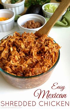 Easy Mexican Shredded Chicken (perfect for burritos, tacos, nachos, soups and more!)