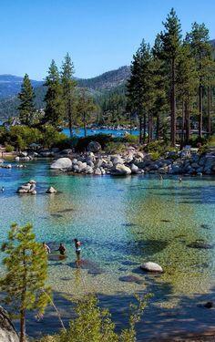 Sand Harbor, Lake Tahoe, Nevada. WANT TO GO!