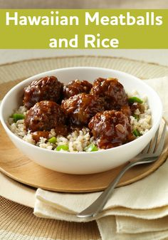 Get a taste of Hawaii with this tender meatball recipe simmered in barbecue sauce and crushed pineapple. It only takes 15 minutes to prepare!