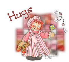 Raggedy Ann's Hugs - raggedy-ann-and-andy Photo Hug Images, Daisy Patches, Raggedy Ann And Andy, Barbie World, Bedtime Stories, Paper Dolls, Clip Art, Children