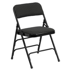 Flash Furniture AW-MC309AF Hercules Series Fabric Upholstered Metal Folding Chair - AW-MC309AF-BG-GG
