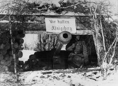 Dug in tank near Koenigsberg, East Prussia. The city surrendered on April 9th, 1945.